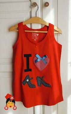 Camisetas de niñas. I love tacones