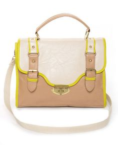 Love the contrasting colors of this Satchel!