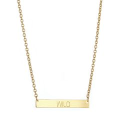 WILD BAR NECKLACE.