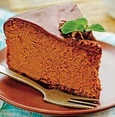 Prăjitură cu ciocolată și brânză