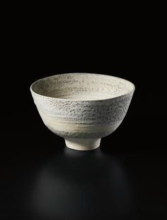 Large footed bowl, Mixed clays thrown together to create an integral spiral of colour and texture. 23.7 cm (9 3/8 in.) diameter, c.1968