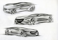 Early sketches of the Mazda Shinari concept created by lead exterior designer Yong-Wook Cho