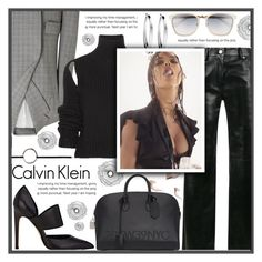 """""""FULL CALVIN KLEIN"""" by celine-diaz-1 ❤ liked on Polyvore featuring Calvin Klein, Calvin Klein 205W39NYC, Improvements and DKNY"""