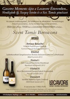 Our next event. Come and taste:-) Special Events