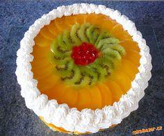 Výborný a osvěžující dortík s ovocem.Chtěla bych moc poděkovat Péťě T.(petatrn) za její výborný krém... Pineapple, Fruit, Pinecone