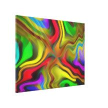 Psychedelic Breakfast Stretched Canvas Prints