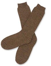 These calf length wool socks are a luxurious choice for everyday wear.