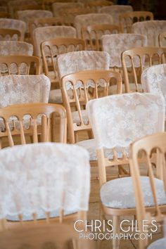 partial wedding chair covers in kingscote barn