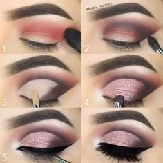 Pink Sparkly Cut Crease Tutorial #glittereyeshadows #pinkcutcrease