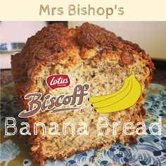 Mrs Bishop shares her recipe for Lotus Biscoff Banana Bread Biscoff Recipes, Banana Bread Recipes, Cookie Recipes, Dessert Recipes, Biscoff Cake, Biscoff Cookies, Delicious Desserts, Yummy Food, Vegan Banana Bread