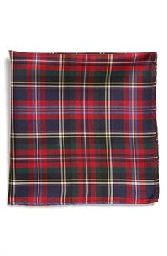 Original Penguin 'Cristo Plaid' Silk Pocket Square available at #Nordstrom