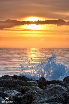 Atlantic Sunrise by Jim Crotty  Sunrise sky over the beach at Hunting Island State Park South Carolina by Jim Crotty