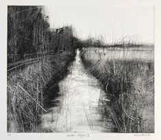 Winter rhyne II - Monoprint x Landscape Drawings, Abstract Landscape, Landscape Paintings, Art Drawings, Art Plastique, Art Photography, Illustration Art, Fine Art, Artwork