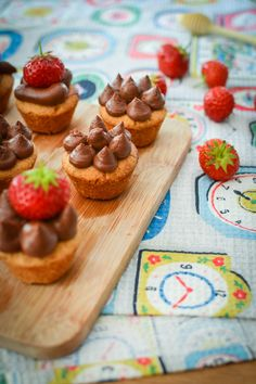 Chocolate Mousse and Caramel Shortbread Cups by Urvashi Roe