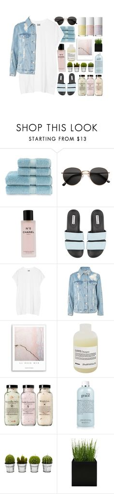 """t-shirt dress"" by tszdori ❤ liked on Polyvore featuring Christy, H&M, Chanel, Oak, Topshop, Davines, philosophy and Billabong"