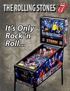 Stern Pinball, Rolling Stones Pinball, New Pinball Machines, Rolling Stones, Stern, Pinball Machine