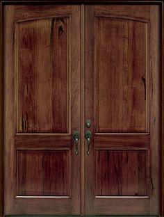 andean walnut solid wood front entry door double - Double Front Doors