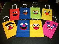 SESAME STREET BIRTHDAY party gift bags wtih by BeyondBalloons, $24.00