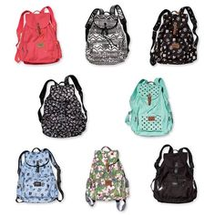 Victoria Secret PINK brand backpacks!!  Want  More backpack options! Love the glitter tribal