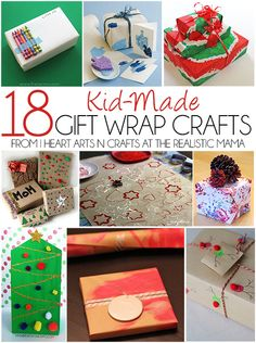 18 Homemade Gift Wrap Ideas - we especially loved #2