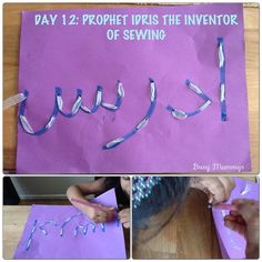 Ramadhan a Craft-a-Day! Day 12: Prophet IDRIS - the inventor of the art of sewing  I was telling my daughter if it wasn't for Prophet Idris (as), one of the oldest Prophets after P.Adam and P.Sheesh (Seth) we wouldn't have known much about fashionable clothes, because he invented the art of sewing.  He also invented some other important things which we will be looking at in the next days inshA.  Read more: www.facebook.com/BusyMummys
