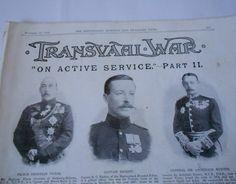 Rare Boer War Magazine - Transvaal War Supplement 18th November 1899 - 34 Photos