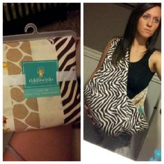 Diy baby sling! Take two receiving blankets, fold them inward and sew them together. Makes a pouch perfect for a baby!
