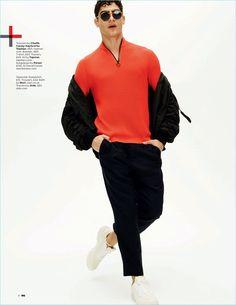 Break the Rules: Jhonattan Burjack Models Trendy Looks for British GQ Style
