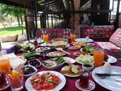 Turkish breakfast Turkish Breakfast, Breakfast In Bed, Brunch, Food, Travel, Kitchens, Living Room Ideas, Apartment Living Rooms, Voyage