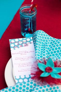 Hostess with the Mostess® - Retro Red + Turquoise Wedding