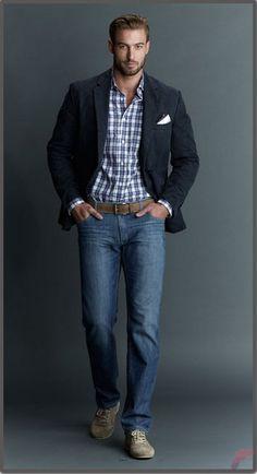 Men sport coat with jeans (152)