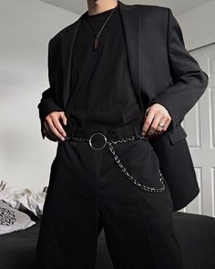 Mode Korean Summer Men Ideen, Source by ideas summer casual Tumblr Outfits, Edgy Outfits, Mode Outfits, Grunge Outfits, Fashion Outfits, Mens Fashion, Fashion Ideas, Fashion Fall, Boy Fashion