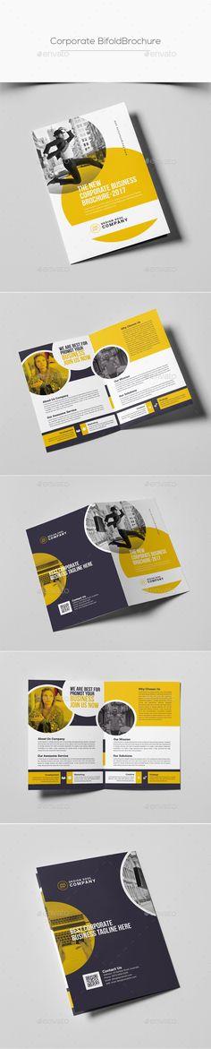 Bifold Brochure Template PSD