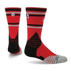 NBA On Court Core Crew Raptors Socks in Red *** More info could be found at the image url.(It is Amazon affiliate link) #MensSocks
