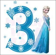Disney S Frozen Elsa Birthday With Number 3 Instant Download Frozen Birthday Theme Elsa Birthday Frozen Themed Birthday Party