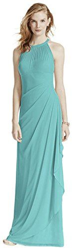 Long Mesh Bridesmaid Dress With Illusion Neckline Style F15662 Spa 10 Click Image