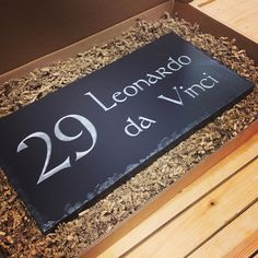 High quality Welsh slate house sign ready for pick up - Made in South Wales.