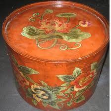 Antique hat boxes