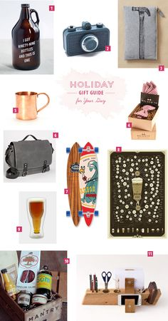Holiday Gift Guide for Your Guy!