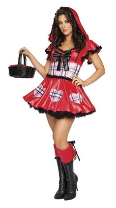 Red Hot Riding Hood Costume GLAM adulto Lady GRATIS UK P P ridotto