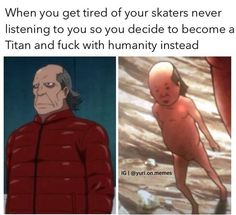 Read yakov = titan from the story Yuri! On Ice Memes by gigi-mendes (🌹 a u d r e y 🌹) with 526 reads. Attack On Titan Funny, Attack On Titan Anime, Me Anime, Anime Stuff, Anime Life, ユーリ!!! On Ice, Natsume Yuujinchou, Levi X Eren, Anime Crossover