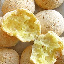 Pão de Queijo (Brazilian cheese buns) recipe!  So excited for this, the mix from the store is too expensive. Gluten-free!