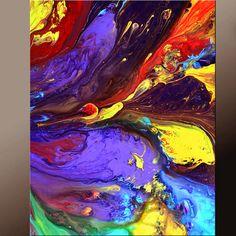 Arte abstracto arte moderno contemporáneo de impresiones 11 x 14 por destino Womack - degree - persiguiendo sueños