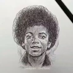 Invisible ink art (wait for it) By Cute Sketches, Art Drawings Sketches, Realistic Drawings, Cute Drawings, Michael Jackson Dibujo, Michael Jackson Gif, Mascara Anime, Celebrity Drawings, Wow Art