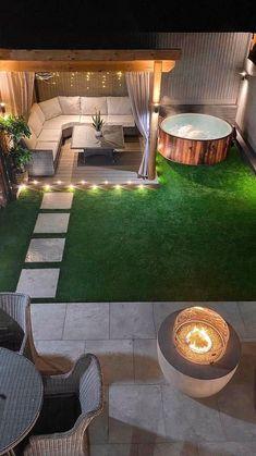 Backyard Seating, Backyard Patio Designs, Backyard Ideas, Small Backyard Landscaping, Patio Ideas, Diy Patio, Garden Decking Ideas, Back Garden Ideas, Oasis Backyard