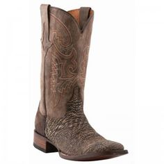 Lucchese Boots Mens Chocolate Sanded Shark Boots - WESTERN BOOTS - BOOTS #lucchese #boots @Baskins Western