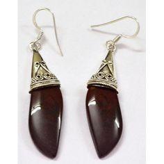 #Bloodstone 925 #Silver #Handmade #Earrings Y-ER-10053