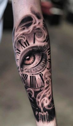 180 fantastic watch tattoos for you to be inspired – top tattoos – skull tattoo sleeve Dope Tattoos, Hand Tattoos, Forarm Tattoos, Forearm Sleeve Tattoos, Best Sleeve Tattoos, Skull Tattoos, Body Art Tattoos, Eye Tattoo On Arm, Neck Tattoo For Guys