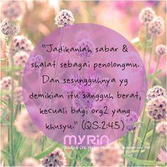Sabar dan Shalat, jangan lupakan sista :)