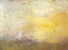 William Turner, ca 1845, Sunrise with Sea Monsters